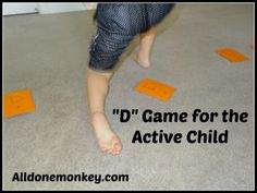 "Letter ""D"" Game for the Active Child - Alldonemonkey.com #abcs"