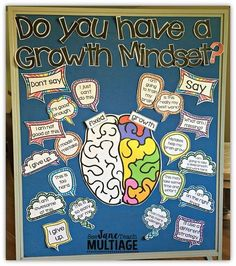 This bulletin board will look great in your classroom! I love everything about the growth mindset concept. Since I have been teaching it in my classroom my students have changed their thinking. Growth Mindset Classroom, Growth Mindset Activities, Growth Mindset Display, Bulletin Board Growth Mindset, Growth Mindset Lessons, Growth Mindset For Kids, Movement Activities, Motor Activities, Physical Activities