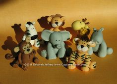 fondant jungle animals