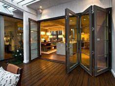 Bi-folding doors open up indoor and outdoor space