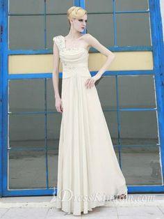 Elegant A Line One Shoulder Chiffon Evening Dress with Fine Workmanship [10105709] - US$154.99 : DressKindom