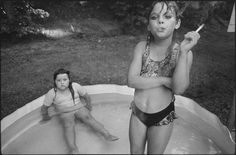 """""""Amanda and her Cousin Amy"""": Mary Ellen Mark photographed Amanda Marie Ellison, 9 (right), and Amy Minton Velasquez, 8, in Valdese, N.C., in 1990."""