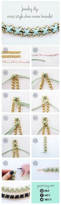 Bracelet bricolage - Tutoriel pour la chaîne et en daim Bracelet