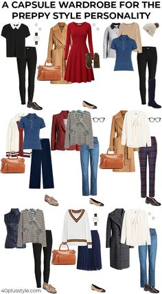 Preppy style - style guide and capsule wardrobe preppy style personality Do you love the preppy style of Ali MacGraw in Love Story? Here is a style guide and capsule wardrobe for the preppy style personality Estilo Preppy Chic, Style Preppy, Preppy Fashion, Preppy Looks, Petite Fashion, Capsule Wardrobe, Preppy Wardrobe, Classic Wardrobe, Work Wardrobe