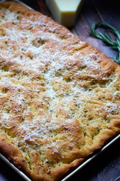 Foccacia with Rosemary, Parmesan and Sea Salt