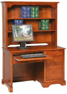 Amish Economy Computer Desk This Wood Desk Features Plywood Sides And A  Plywood Back. Handcrafted In The Wood Of Your Choice, This Wood Office  Furniture Is ...