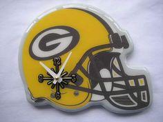 Bay Packers Helmet Clock