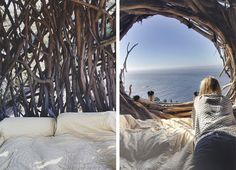 The Nest : Spend the night in Big Sur in a treefort modeled after a bird's nest.