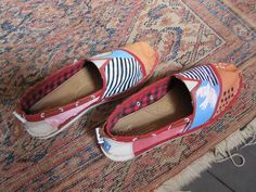 Painted shoes done by Don Kuzak