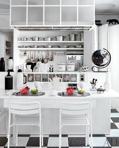 Functional u shaped kitchen design ideas small u-shaped with island. u-shaped kitchen decoration Beautiful Kitchen Designs, Contemporary Kitchen Design, Best Kitchen Designs, Beautiful Kitchens, Cool Kitchens, Tidy Kitchen, Kitchen Layout, Kitchen Decor, Kitchen Ideas