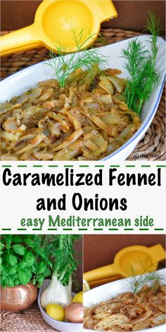 Caramelized Fennel and Onions A Slow, Easy Mediterranean Side is part of Vegetable side dishes recipes - Sliced fennel bulb and onions are cooked until they are caramelized to a toasty brown then finished with Parmesan, lemon, and Italian parsley Vegetable Side Dishes, Vegetable Recipes, Vegetarian Recipes, Cooking Recipes, Healthy Recipes, Healthy Cooking, Best Side Dishes, Healthy Side Dishes, Side Dish Recipes