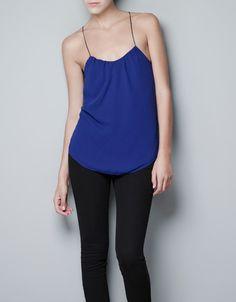 PLEATED TOP - Shirts - Woman - ZARA United States