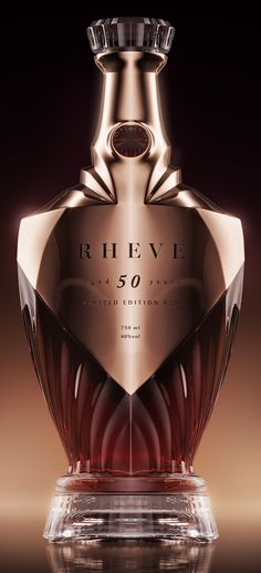 Rheve - Rum und co - Perfume Alcohol Bottles, Liquor Bottles, Perfume Bottles, Perfume Packaging, Bottle Packaging, Luxury Packaging, Spirit Drink, Rum Bottle, Gula