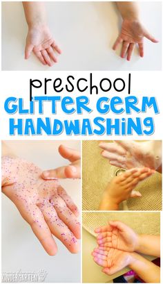 This glitter germ handwashing activity is a great way to reinforce science learning. Great for tot school, preschool, or even kindergarten!