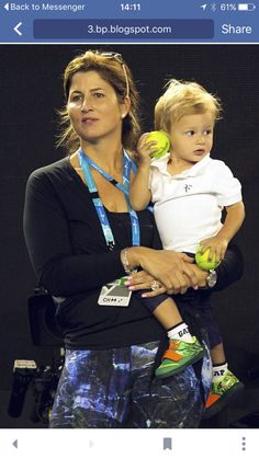 Mirka with one of the boys