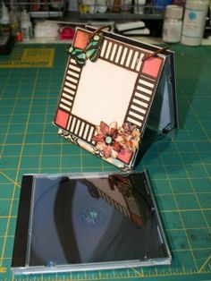 Use a CD case to make a quick and easy flip mini photo album or calender for a favorite someone's desk!
