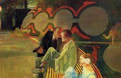Les codes d'un jardin , The Codes of a Garden - Leonardo Cremonini, 1965 Italian Oil on canvas Inspirational Artwork, Art Et Illustration, Illustrations, Italy Art, Leonardo, Various Artists, Contemporary Paintings, Oeuvre D'art, Figurative Art