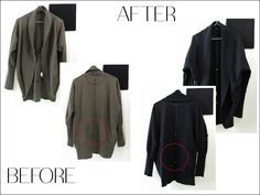 Mystery stain on your fav cozy cardigan? It can be 'new' again by dyeing it black. Restore, Duster Coat, Mystery, Cozy, Jackets, Black, Fashion, Down Jackets, Moda