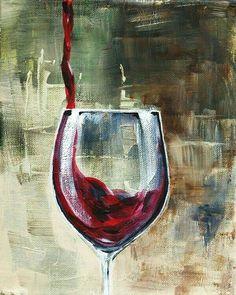 Acrylic Wall Art, Diy Canvas Art, Acrylic Painting Canvas, Wine Wall Art, Wine Art, Wine Bottle Art, Painted Wine Bottles, Wine Painting, Bottle Painting