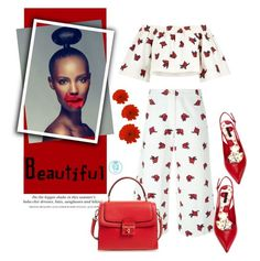 """""""Beautiful Red Flower"""" by queenvirgo on Polyvore featuring House of Holland, H&M and Dolce&Gabbana"""