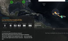 Ubicación de la tormenta tropical Ida a las 05:00 PM 19-09-2015   LVV