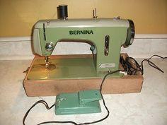 Vintage Bernina Straight Stitch Sewing Machine Model 614 Retro Green Works | eBay