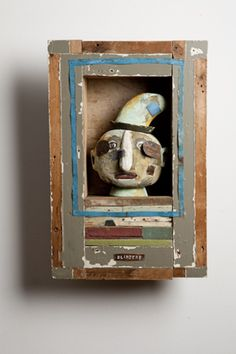 Assemblage art by William Skrips. #art #assemblage