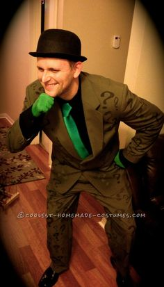 Cool Homemade Riddler Costume... This website is the Pinterest of costumes