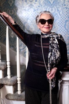 Black and White Classic.  Joyce Carpati, The 80-year-old Cover Star of The Advanced Style Coloring Book - ADVANCED STYLE