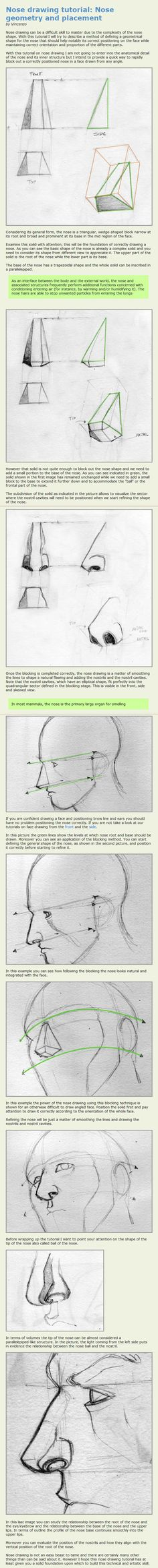 Nose drawing tutorial by Maxduro.deviantart.com on @deviantART   ★ || CHARACTER DESIGN REFERENCES™ (https://www.facebook.com/CharacterDesignReferences & https://www.pinterest.com/characterdesigh) • Love Character Design? Join the #CDChallenge (link→ https://www.facebook.com/groups/CharacterDesignChallenge) Share your unique vision of a theme, promote your art in a community of over 50.000 artists! || ★
