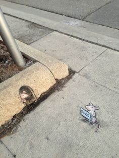'Tis the season for bold, inscrutable statements. David Zinn, 2013