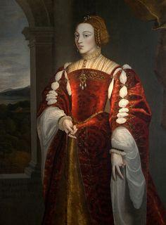 Portrait de Isabelle de Portugal, impératrice d'Allemagne, reine d'Espagne, peintre inconnu Détail