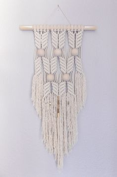 """Macrame Wall Hanging """"HANE no.6"""" by HIMO ART, One of a kind Handcrafted Macrame/Rope art"""