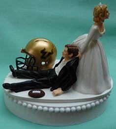 Funny #USF #wedding cake topper.