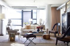 gold garden bench - Nestor Santa Cruz Washington DC Decor - Designer Apartment Decor Washington DC