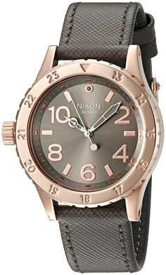 Nixon Women's A4672214-00 38-20 Champagne Watch With Leather Band ** Want additional info for the watch? Click on the image.