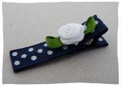 alligatorclip with grosgrain ribbon | Haarspeldjes-Fabriek