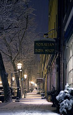 Photo by Matthew Churetta of Bethlehem, PA; the Moravian Book Shop is one of my favorite places to browse!!  :)