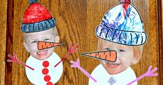 Super easy craft inspired by this one on Pinterest Print a face. Print a carrot. Print a hat. Let the kids assembleasthey ...