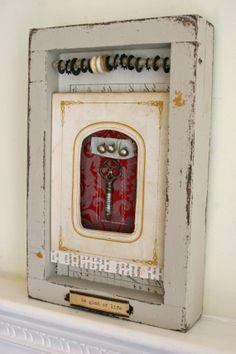 Shadowbox Art CollageBe Glad of Life by rebeccasower on Etsy