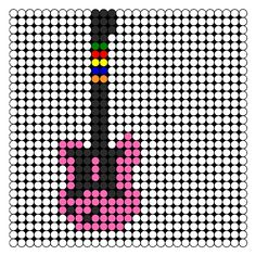 Guitar Hero Guitar Perler Bead Pattern | Bead Sprites | Misc Fuse Bead Patterns