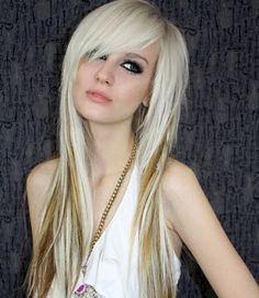 rock and roll haircut long side bangs - Google Search