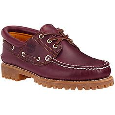 Timberland Men's 50009 Authentics 3-Eye Classic Lug Boat Shoe, Burgundy/Brown,5.5 M - http://buyonlinemakeup.com/timberland/5-5-d-m-us-timberland-mens-classic-3-eye-lug-boat-shoe