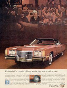 1972 Cadillac Eldorado Ad Vintage Car by AdVintageCom on Etsy
