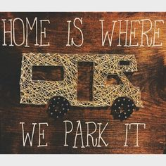 Rv string art sign RV sign rv decor home is by Woodhammernails