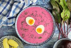 Litván céklaleves Soup, Eggs, Breakfast, Ethnic Recipes, Morning Coffee, Egg, Soups, Egg As Food