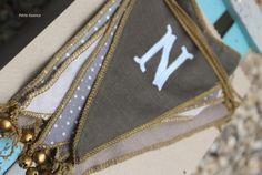 Banderín personalizado colores piedra