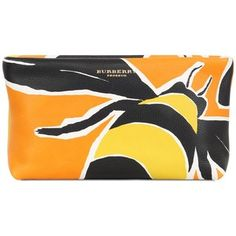 BURBERRY PRORSUM Bee Painted Leather Clutch