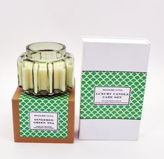 #madameluna #lunac #candles #gift #new #green #cogg #designer #scentedcandles #candlecareset Essential Oil Blends, Essential Oils, Luxury Candles, Paraffin Wax, Candle Making, Scented Candles, Fragrance, Tea, Green
