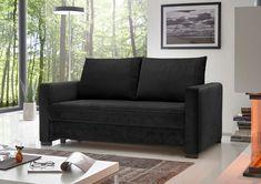 Unser #Schlafsofa Modell BURANO in Schwarz macht nicht nur optisch eine gute Figur, sondern überzeugt auch mit einem Höchstmaß an Komfort. Lass Dich von unseren #Schlafsofas auf unserer Webseite inspirieren.   #reposa #polstermöbel #sofa #madeingermany #handmade #schlafgast #bett #zuhausesein #sofamitschlaffunktion #sofabed #funktionssofa #couch #schlafcouch #bedcouch Komfort, Love Seat, Furniture, Home Decor, Website, Armchair, Figurine, Scale Model, Decoration Home